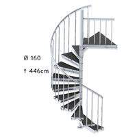 Escalier colimaçon d'extérieur en acier galvanisé et bois composite Ø 160 cm