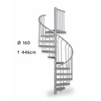 Escalier extérieur en colimaçon en acier galvanisé Treppen Fribourg Ø 160 cm