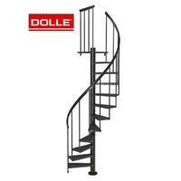 Escalier colimaçon en acier et hêtre Dolle Calgary Ø 120 cm