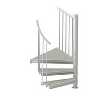 Petit escalier en colimaçon acier galvanisé Treppen Fribourg Ø 130 cm