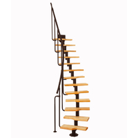 Escalier gain de place en acier et bois massif Atrium Mini