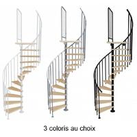 Escalier en colimaçon en acier et bois massif Atrium Novo Ø 120 cm