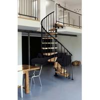Escalier colimaçon en acier noir et hêtre massif Atrium Novo Ø 100 cm