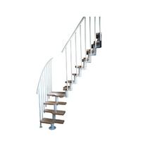 Escalier gain de place en acier et bois massif Atrium Mini Milano
