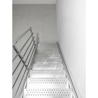 Escalier droit d'extérieur en acier galvanisé Treppen Dunkerque 70 cm