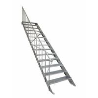 Escalier extérieur droit en acier galvanisé Atrium Step 100 cm