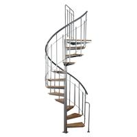 Escalier en colimaçon Atrium Solo en acier et bois Ø 120 cm