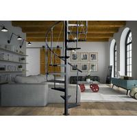 Escalier colimaçon en acier noir Atrium Pinio Ø 120 cm