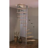 Escalier semi-colimaçon en acier et bois Minka Metallica 140x70cm