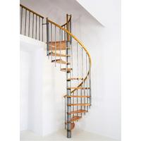 Escalier en colimaçon Minka Wave en métal et hêtre massif Ø 140 cm
