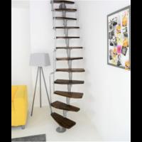Escalier gain de place en acier et hêtre Minka Monaco