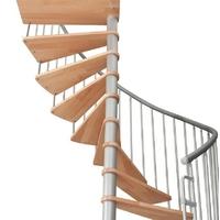 Escalier hélicoïdal Bordeaux de Steinhaus en hêtre massif et acier Ø 120 cm