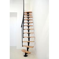 Escalier gain de place en acier et hêtre massif Minka Nizza