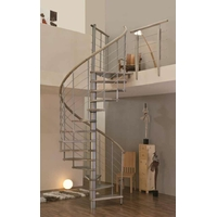 Escalier colimaçon en chêne massif et acier Minka Venezia Ø 120 cm