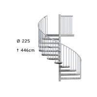 Escalier issue de secours en colimaçon extérieur Treppen Ø 225 cm