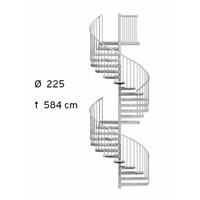 Escalier hélicoïdal extérieur en acier galvanisé Treppen Fribourg Ø 225 cm