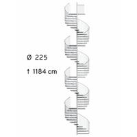 Escalier colimaçon extérieur en acier galvanisé Treppen Fribourg Ø 225 cm