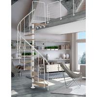 Escalier en colimaçon acier blanc Atrium Novo Type 4 Ø 100 cm
