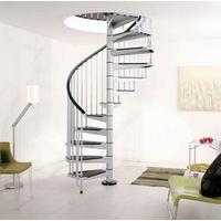 Escalier hélicoïdal Arkè Civik en acier gris métallisé Ø 120 cm