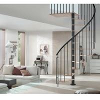 Escalier hélicoïdal Bordeaux de Treppen en acier et hêtre massif Ø 120 cm