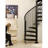 Escalier hélicoïdal Arkè Civik en métal noir Ø 120 cm