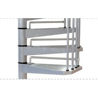 Contremarches en acier galvanisé pour escalier d'extérieur Arkè Civik zink