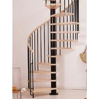 Escalier hélicoïdal Arkè Klan en acier et hêtre Ø 140 cm