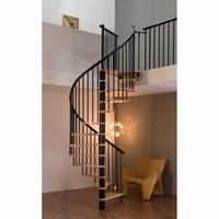Escalier hélicoïdal en acier et hêtre massif Minka Spiral Effect Ø 140 cm