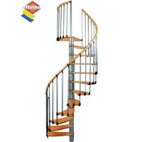 Escalier en colimaçon Minka Wave en métal et bois Ø 140 cm