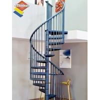 Escalier en colimaçon  Minka Rondo Color en acier anthracite Ø 160 cm