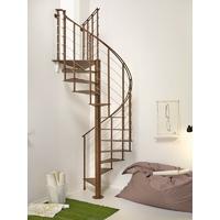 Escalier hélicoïdal / colimaçon en acier marron Fontanot Slim Ø 130 cm