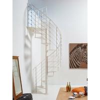 Escalier colimaçon en acier blanc Fontanot Slim Ø 150 cm