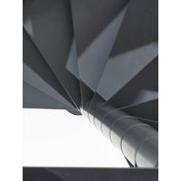 Escalier en colimaçon design en acier gris fonte Fontanot Slim Ø 130 cm