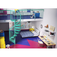 Escalier hélicoïdal / en colimaçon Fontanot Clip - bleu, blanc, violet vert ou orange