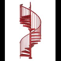 Escalier d'extérieur en colimaçon Fontanot Techne rouge Ø 123 cm