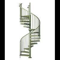 Escalier d'extérieur en colimaçon Fontanot Techne vert Ø 163 cm