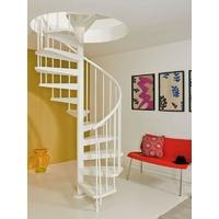 Escalier en colimaçon / hélicoïdal Magia 50 en acier blanc Ø 150 cm
