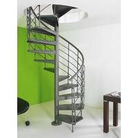 Escalier en colimaçon / hélicoïdal Magia 50 Xtra en acier gris fonte Ø 110 cm