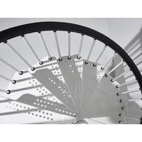 Escalier en colimaçon d'extérieur en acier galvanisé blanc Fontanot Sky 030 Ø 120 cm