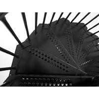 Escalier en colimaçon extérieur en acier galvanisé noir Fontanot Sky Ø 140 cm