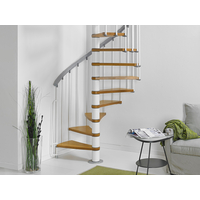 Escalier en colimaçon acier et hêtre Fontanot Zip O Ø 130 cm