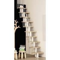 Escalier gain de place en acier et hêtre Fontanot ZIP I
