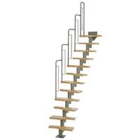 Escalier gain de place en acier et hêtre Dolle Graz