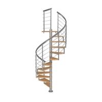 Escalier en colimaçon Dolle Montréal 10 en acier et chêne Ø 120 cm