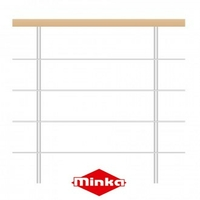 Balustrade 100 cm avec main courante en hêtre Minka Venezia