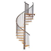 Escalier hélicoïdal Treppen Cologne en acier et hêtre Ø 140 cm