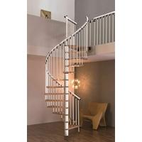 Escalier colimaçon en hêtre et acier Treppen Cologne Ø 160 cm