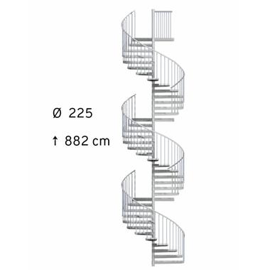 Escalier-exterieur-acier-galvanise-Treppen