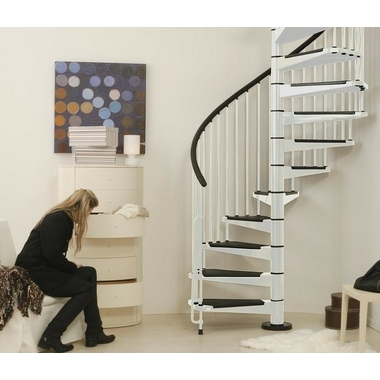 escalier h lico dal ark civik en acier blanc et noir 160 cm. Black Bedroom Furniture Sets. Home Design Ideas