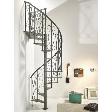 Escalier-colimacon-fer-forge